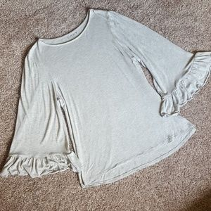 LOFT Bell Sleeve Top, Size Large